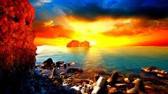 Crazy Beach Sunset Wallpaper 28807