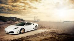 Fantastic White Ferrari Wallpaper 36136