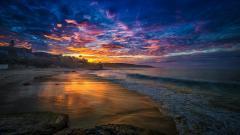 Free Beach Sunset Wallpaper 28812