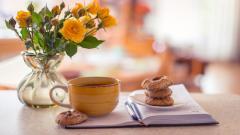 Pretty Tea Cup Wallpaper 42213