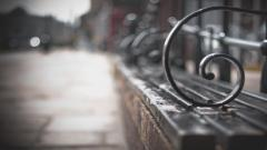 Street Bench Close Up Wallpaper 44608