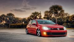 Stunning Red Volkswagen GTI Wallpaper 42975