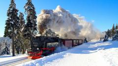 Winter Locomotive Background 40762