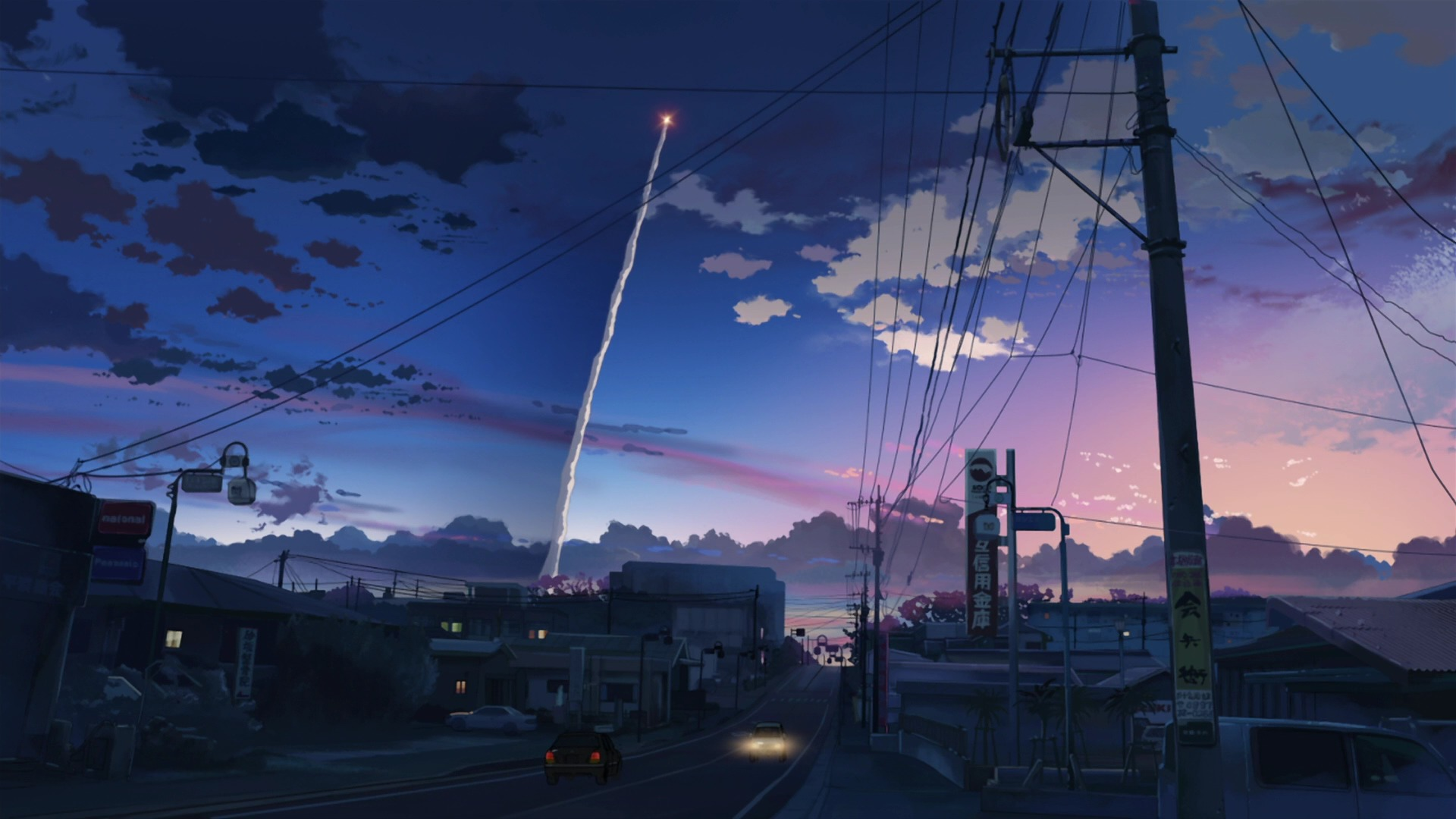 wonderful anime city wallpaper 42585