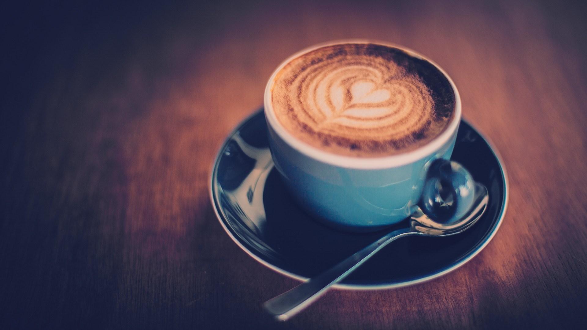 lovely coffee heart wallpaper 45851