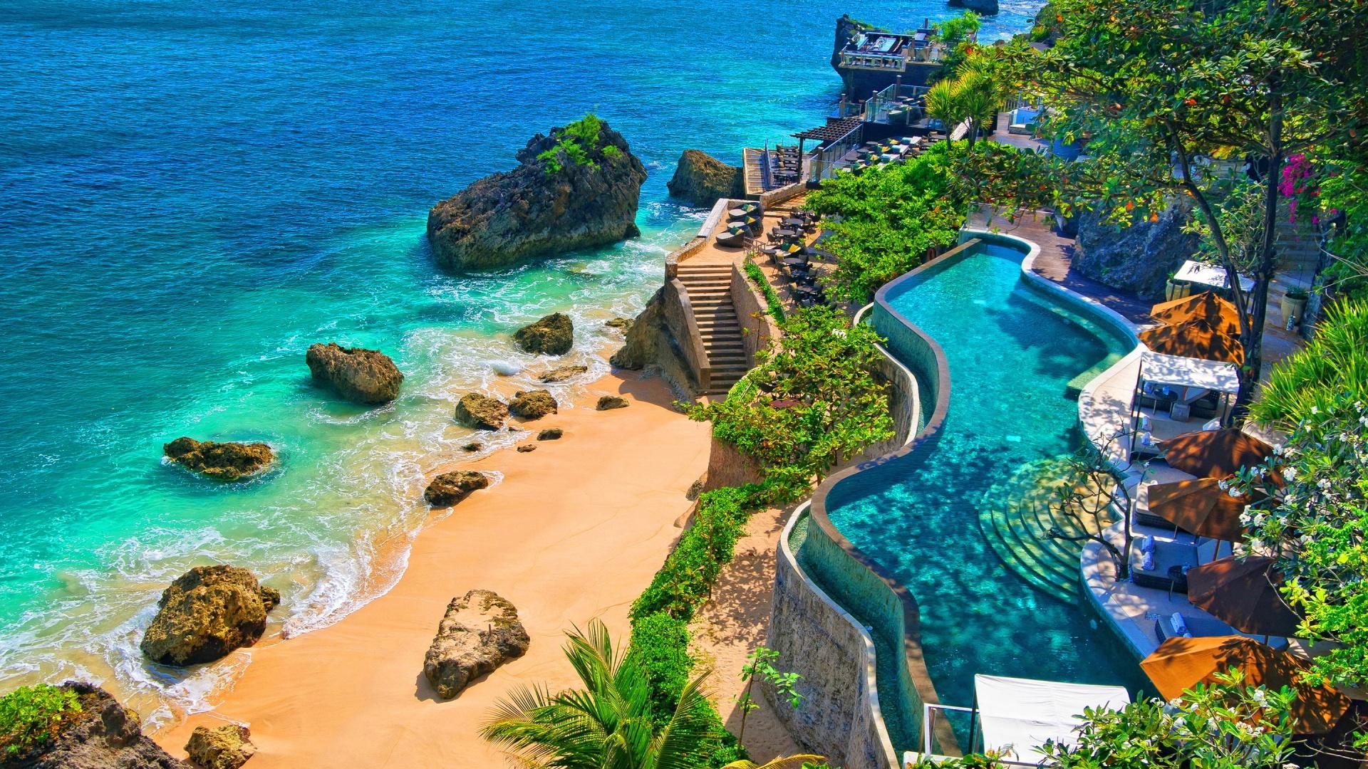 stunning bali resort wallpaper 45862