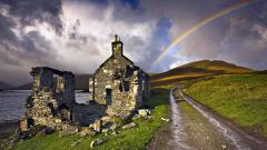 Rainbow Over Hills Wallpaper 45729