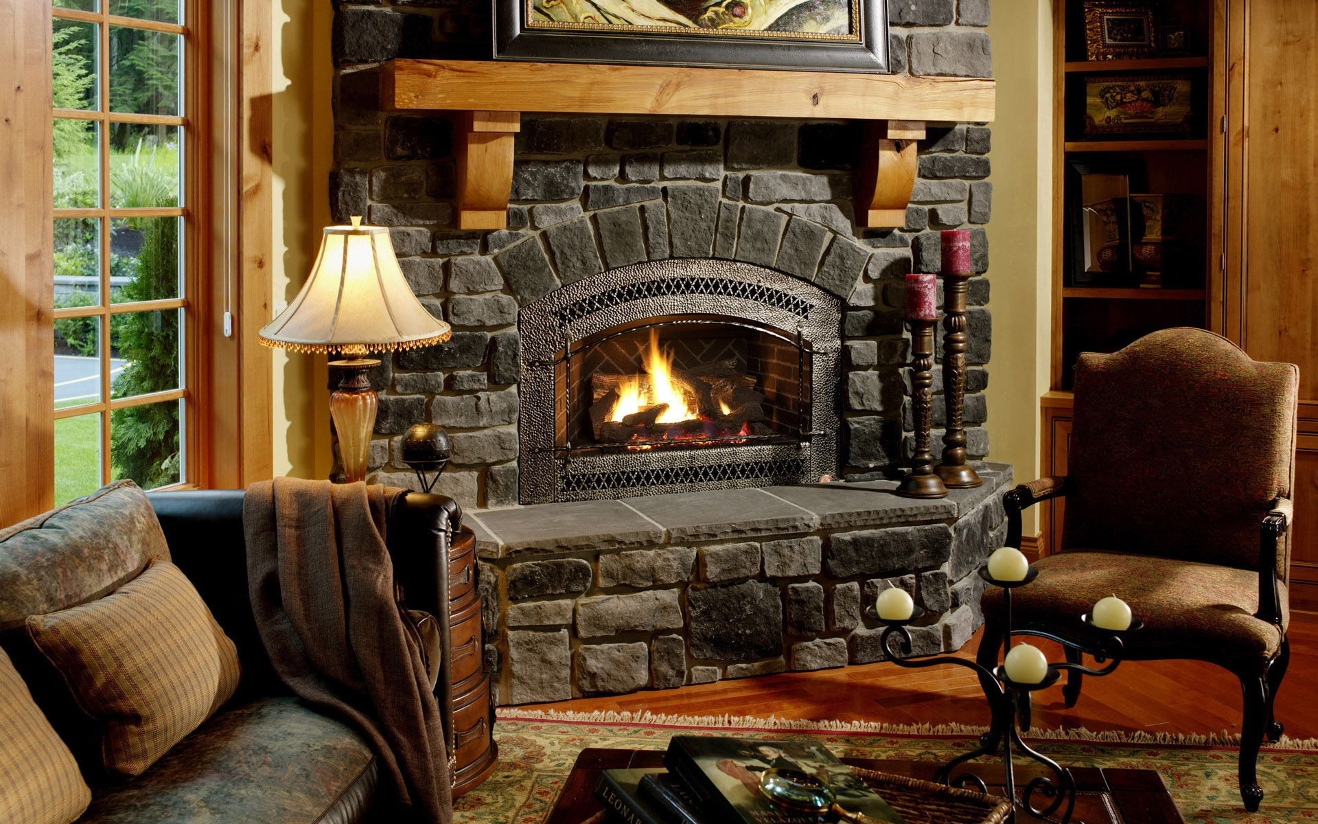 Fireplace Wallpaper Hd 47180 1920x1200px
