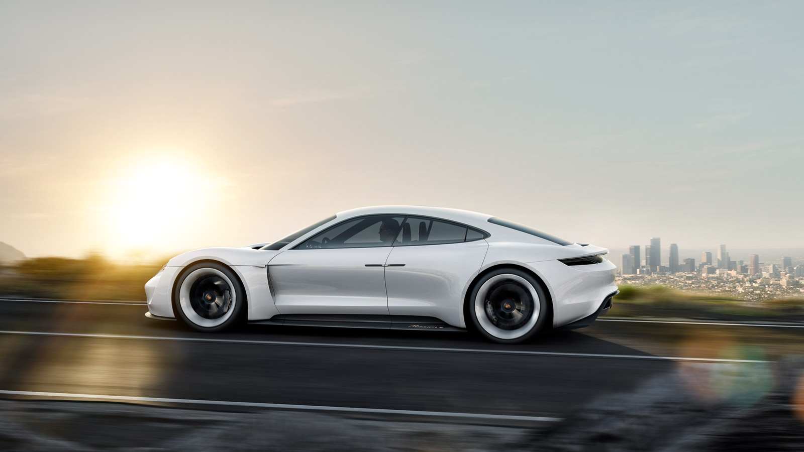 porsche mission e rolling shot wallpaper 48772