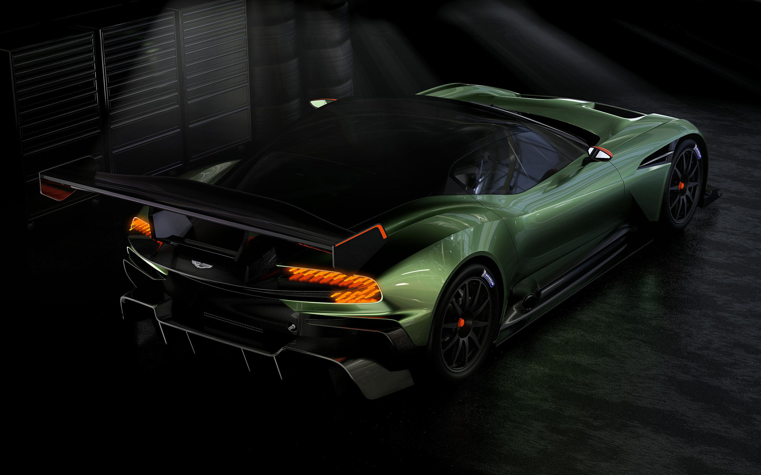 2015 aston martin vulcan rear view wallpaper 47505