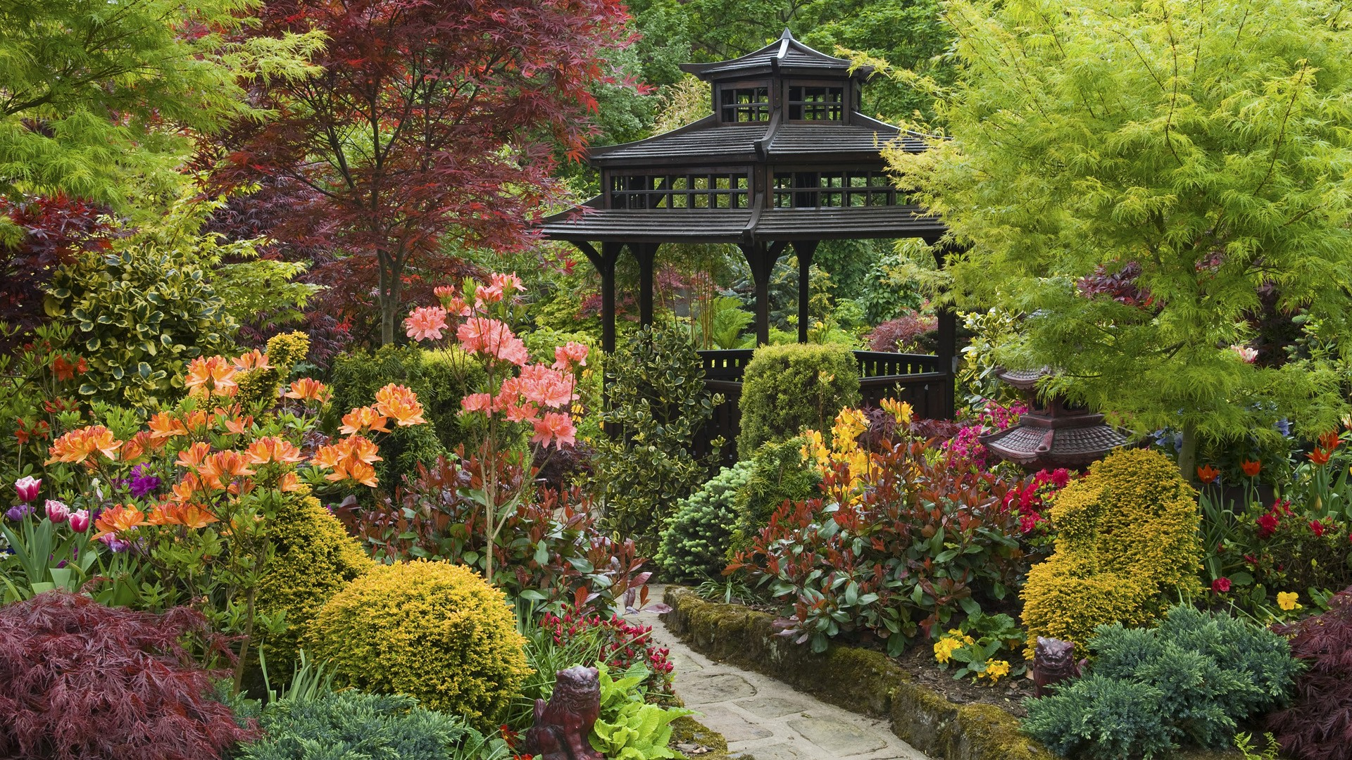 wonderful garden wallpaper 46695