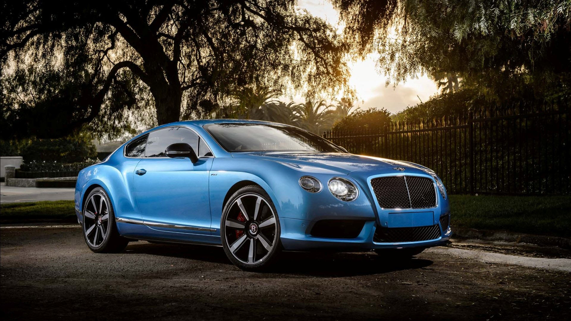 blue bentley continental gt wallpaper hd 48792 1920x1080