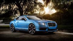 Blue Bentley Continental GT Wallpaper HD 48792