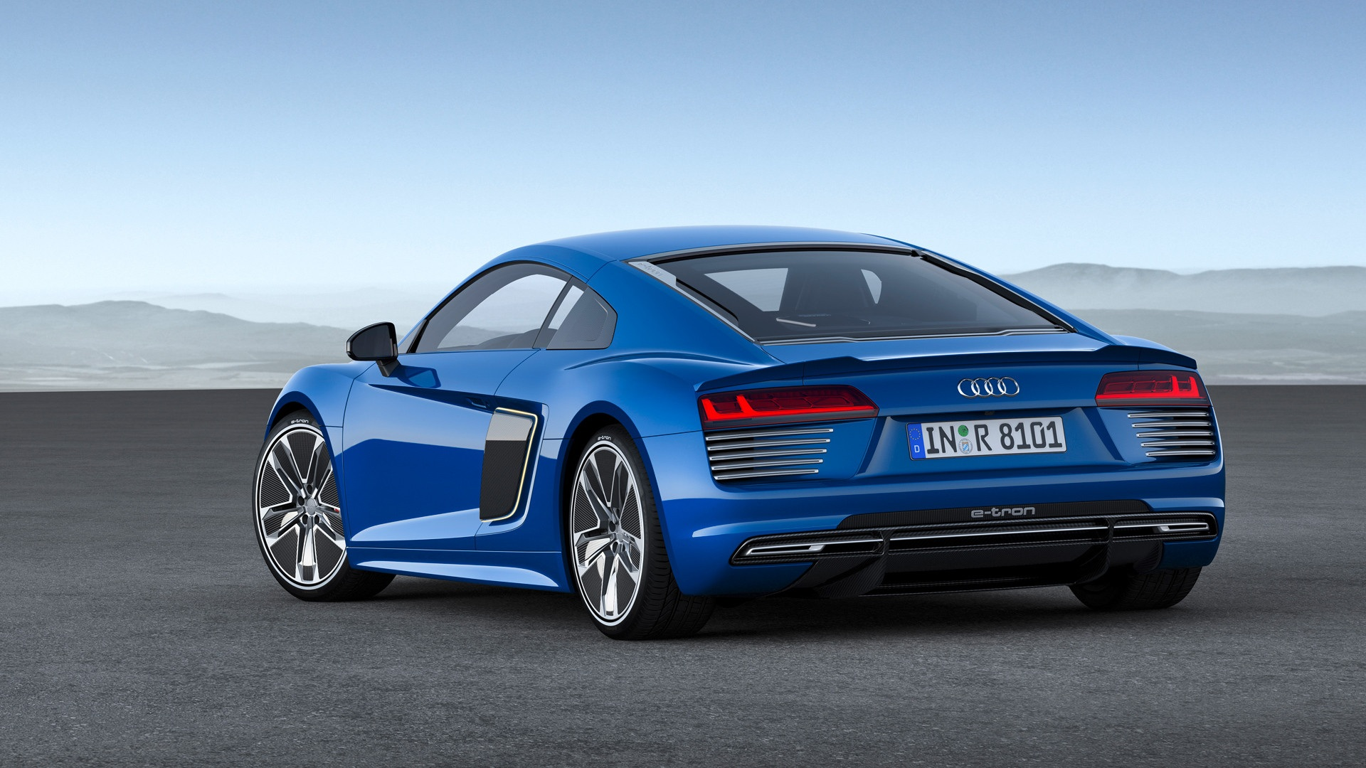 blue 2016 audi r8 etron wallpaper 48733