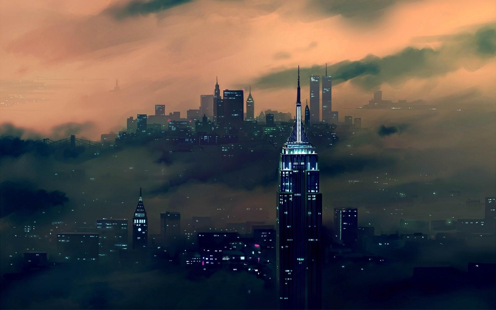 city artwork wallpaper 48801