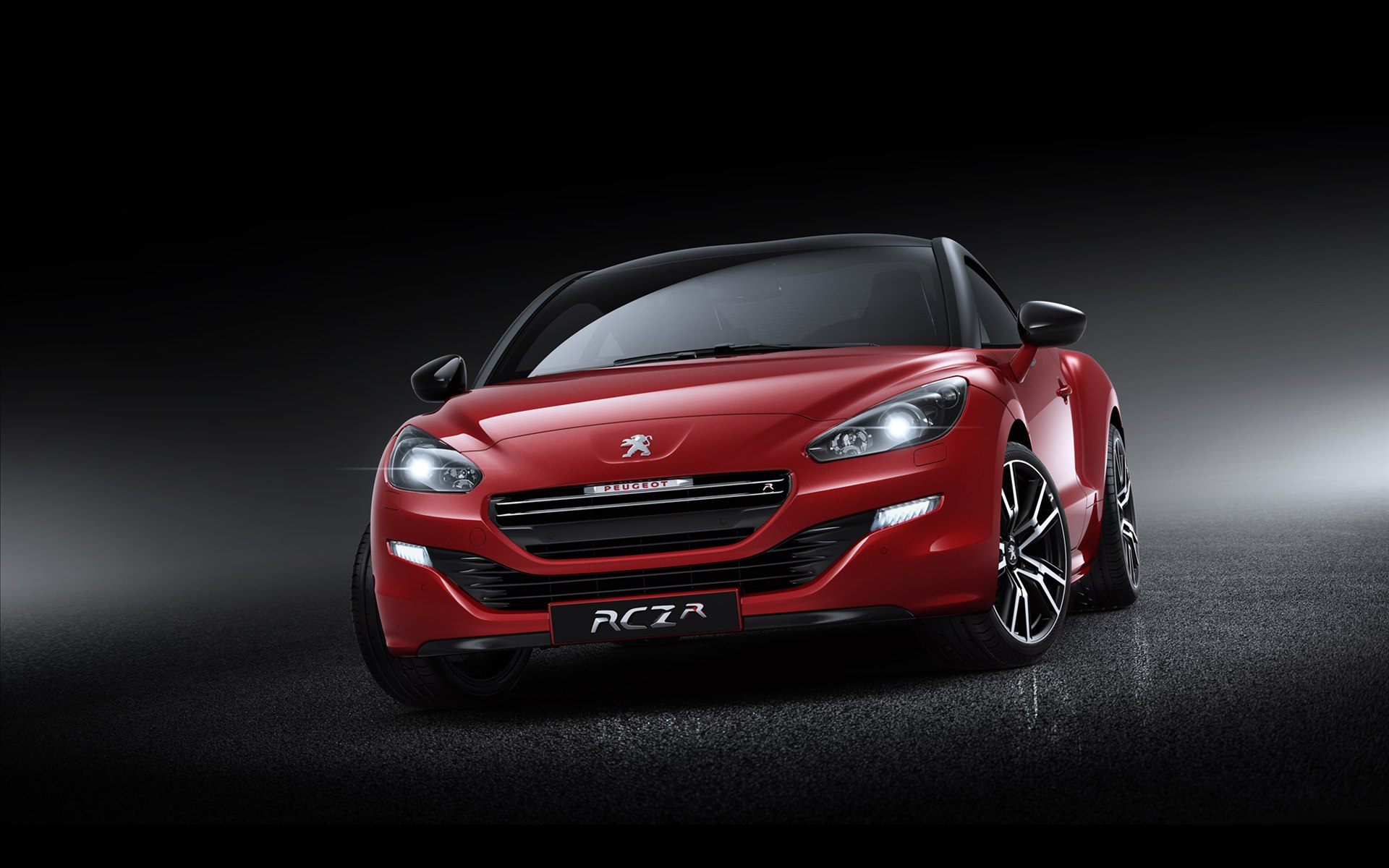 red peugeot rcz front view wallpaper 48711