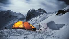 Winter Tent Wallpaper 45986