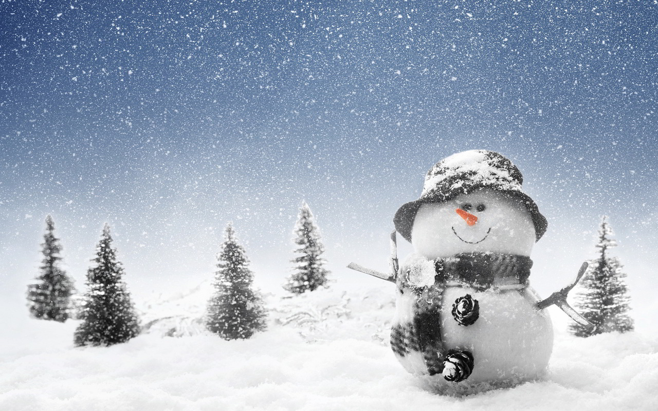 wonderful snowman wallpaper 45190