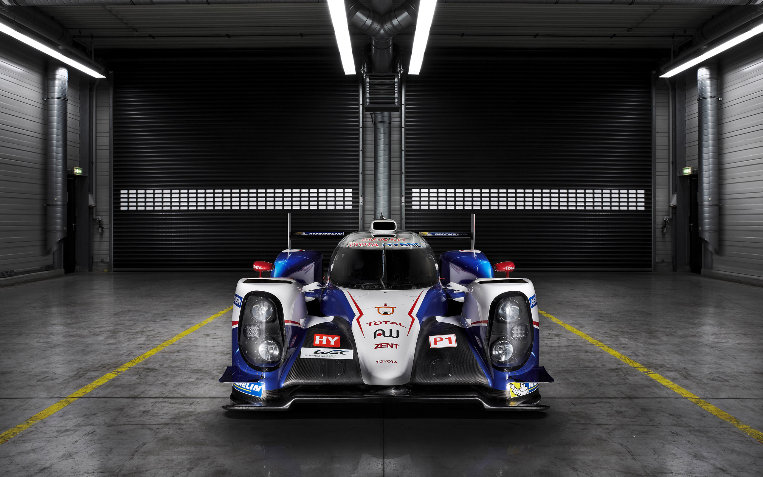 toyota ts040 hybrid race car front view wallpaper 47721
