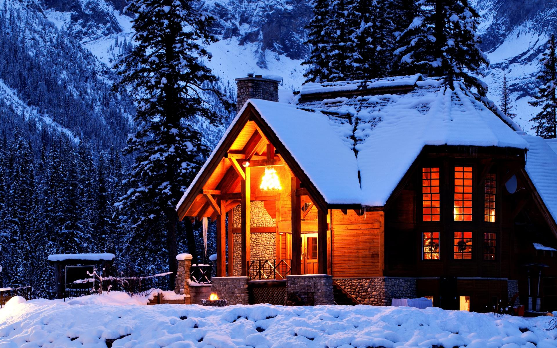 wonderful cabin wallpaper 45794