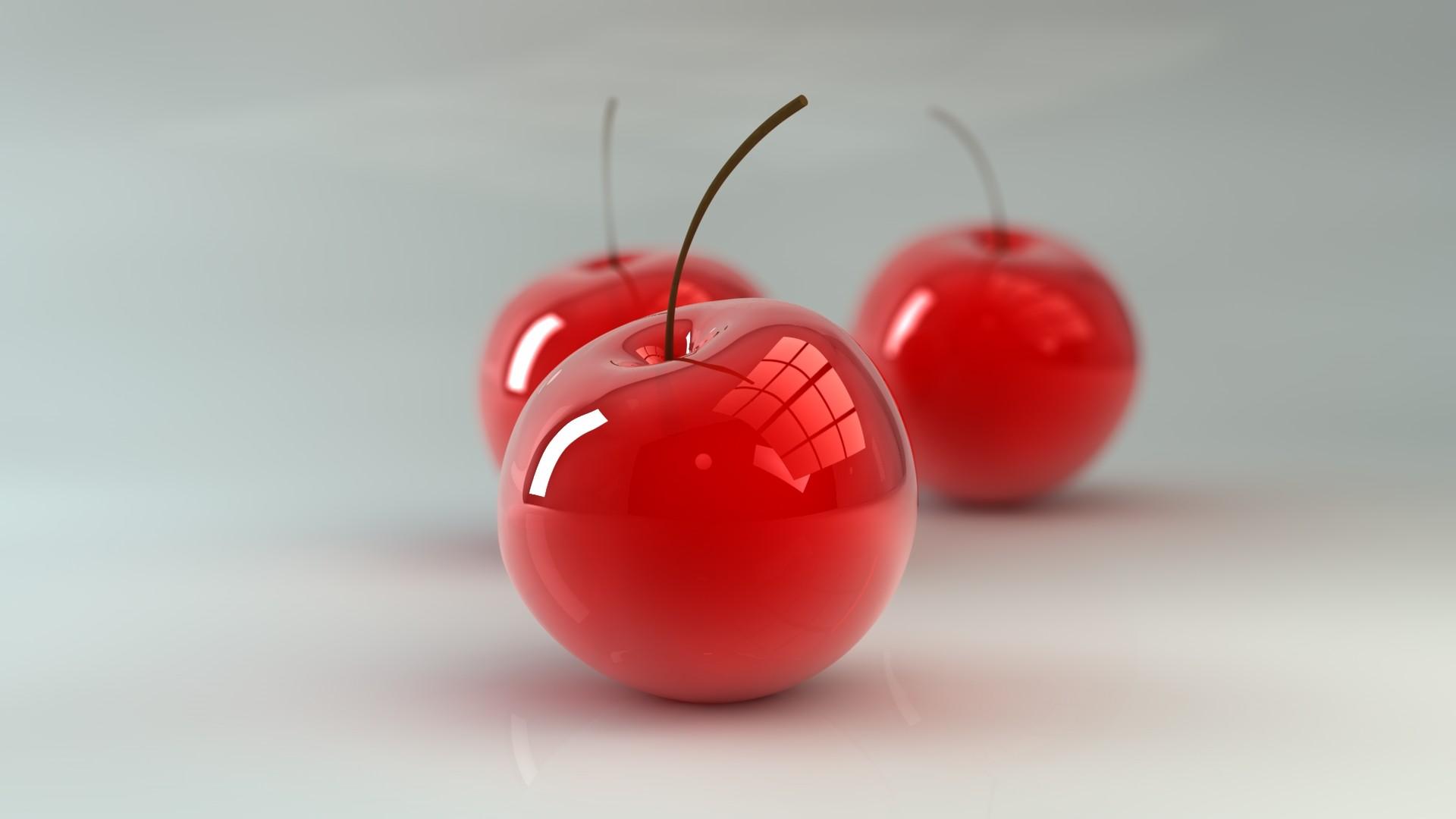 3d glossy cherries wallpaper 50151