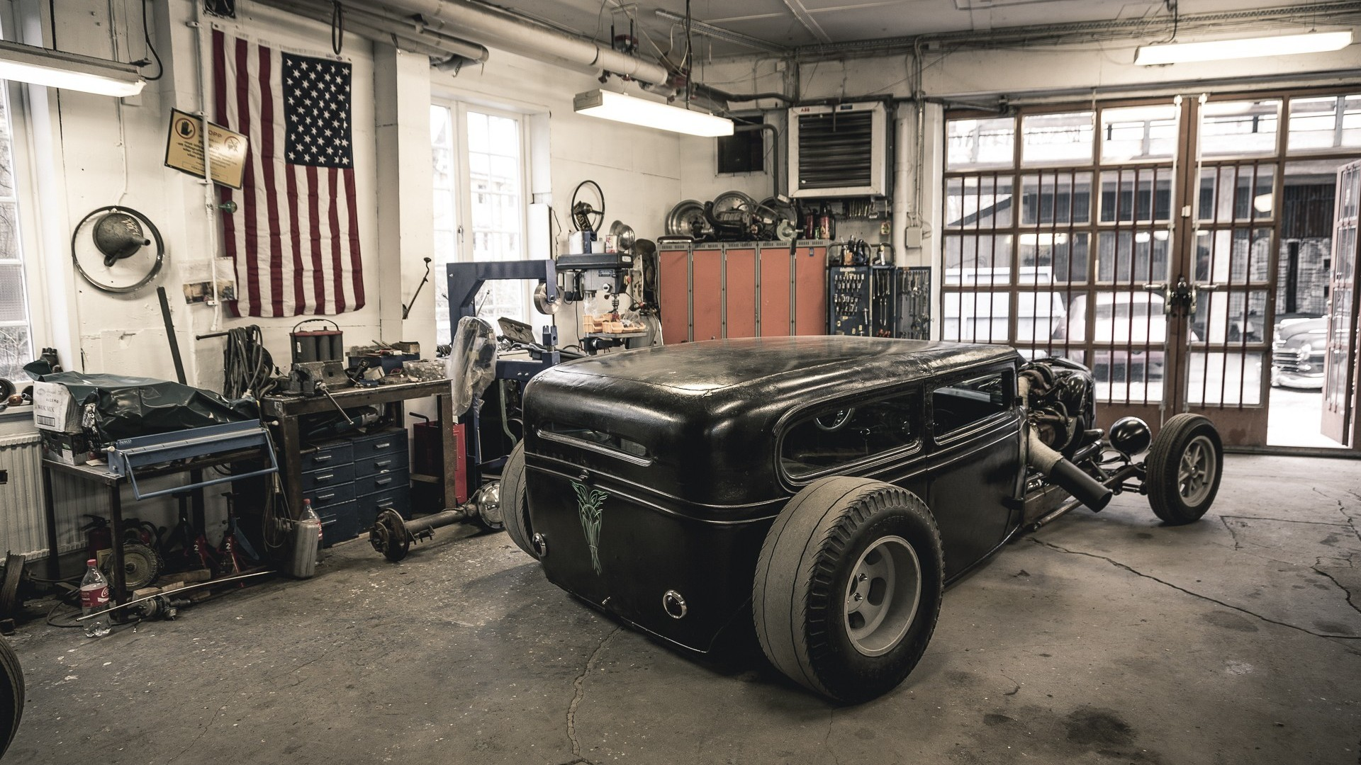 Hot Rod Garage : Hot rod garage wallpaper px hdwallsource