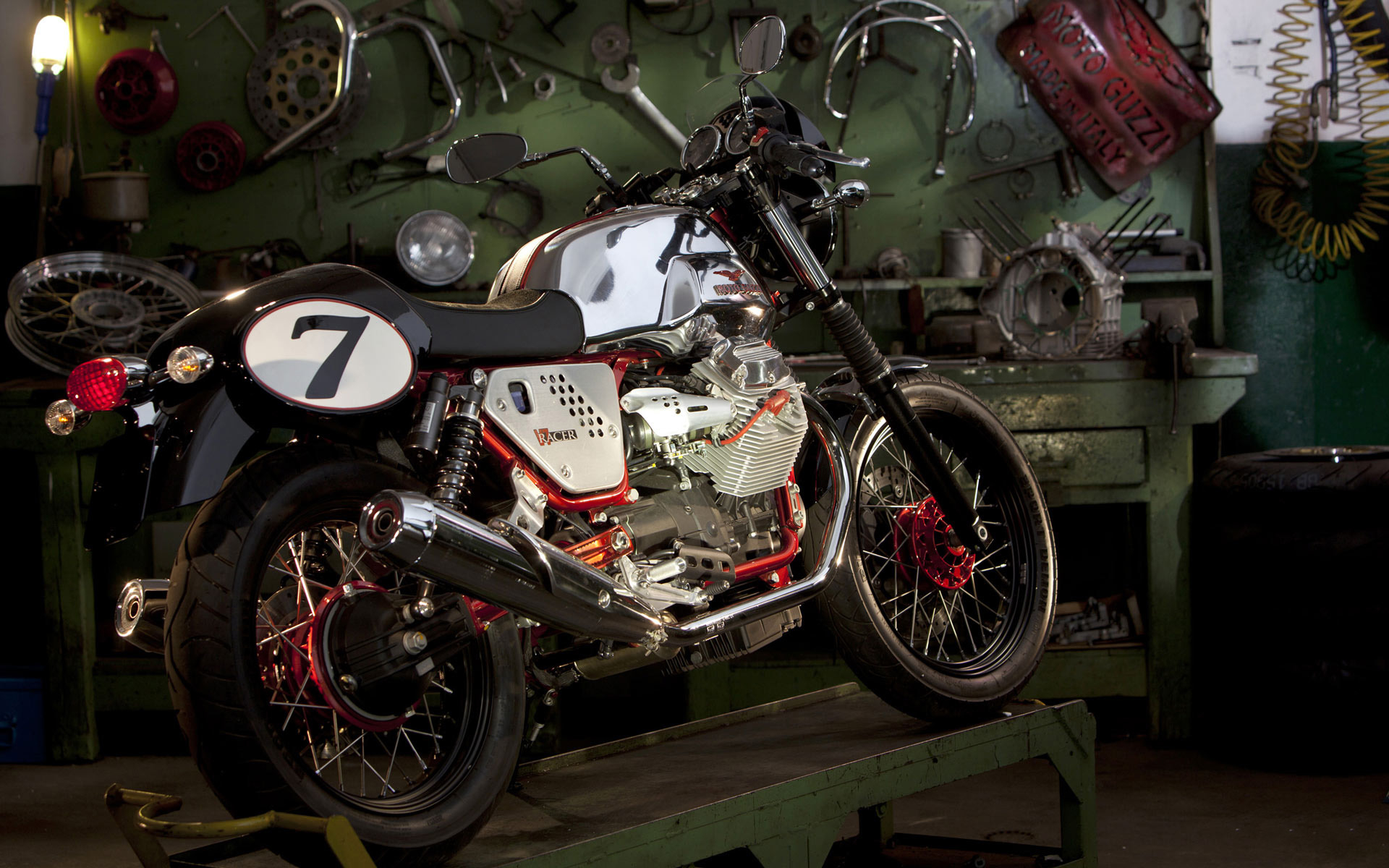motorcycle garage desktop wallpaper 51939