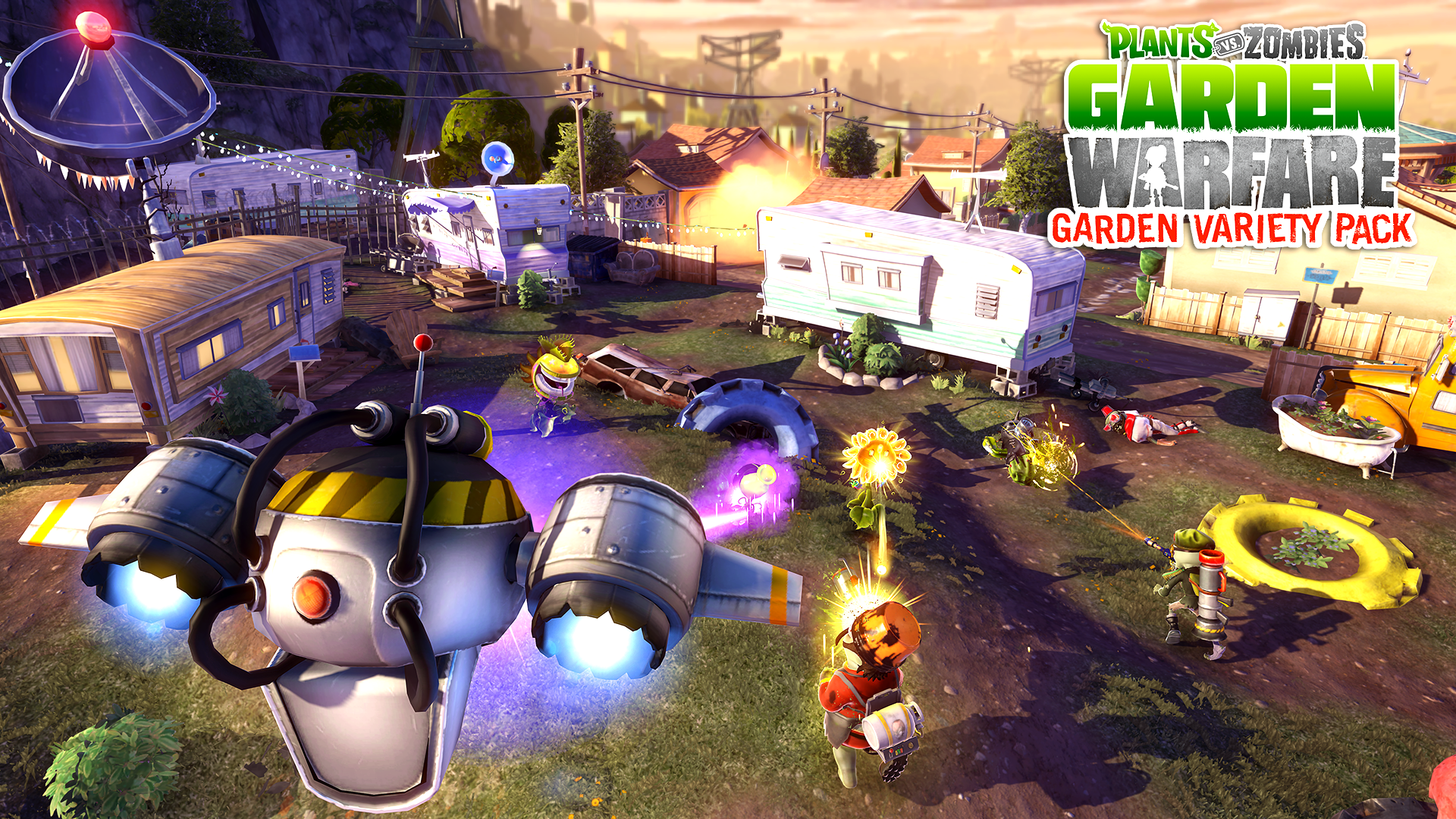 plants vs zombies garden warfare wallpaper 49037 1920x1080 px