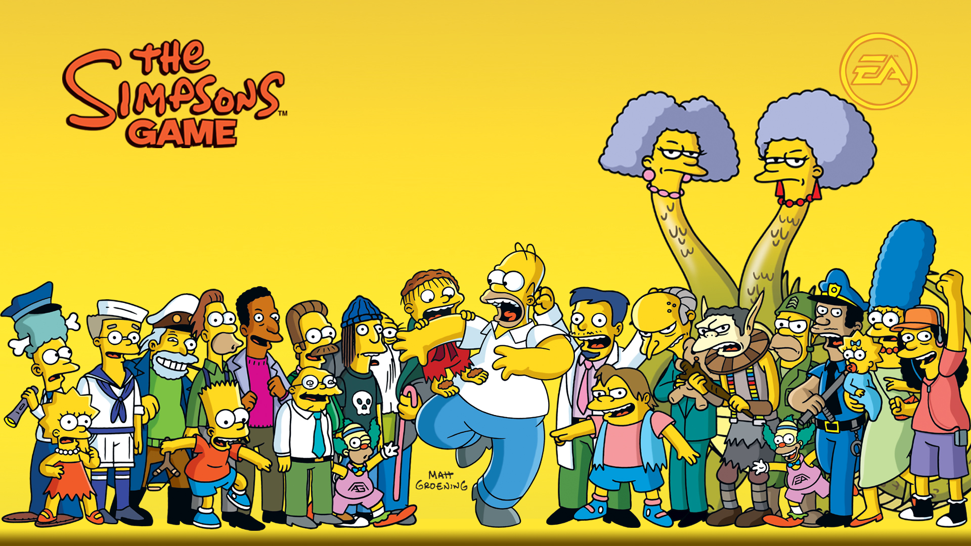 the simpsons game wallpaper 48975