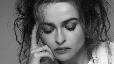 Monochrome Helena Bonham Carter Face Wallpaper 58014
