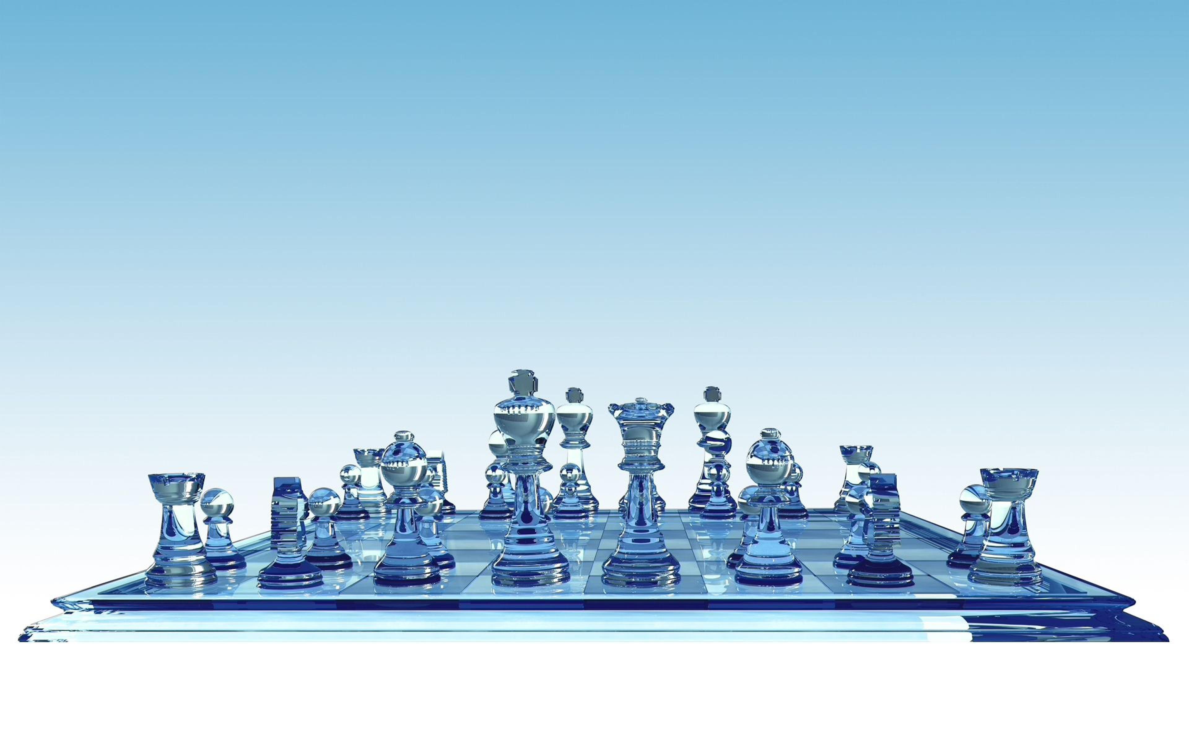 3d glass chess board wallpaper 49452