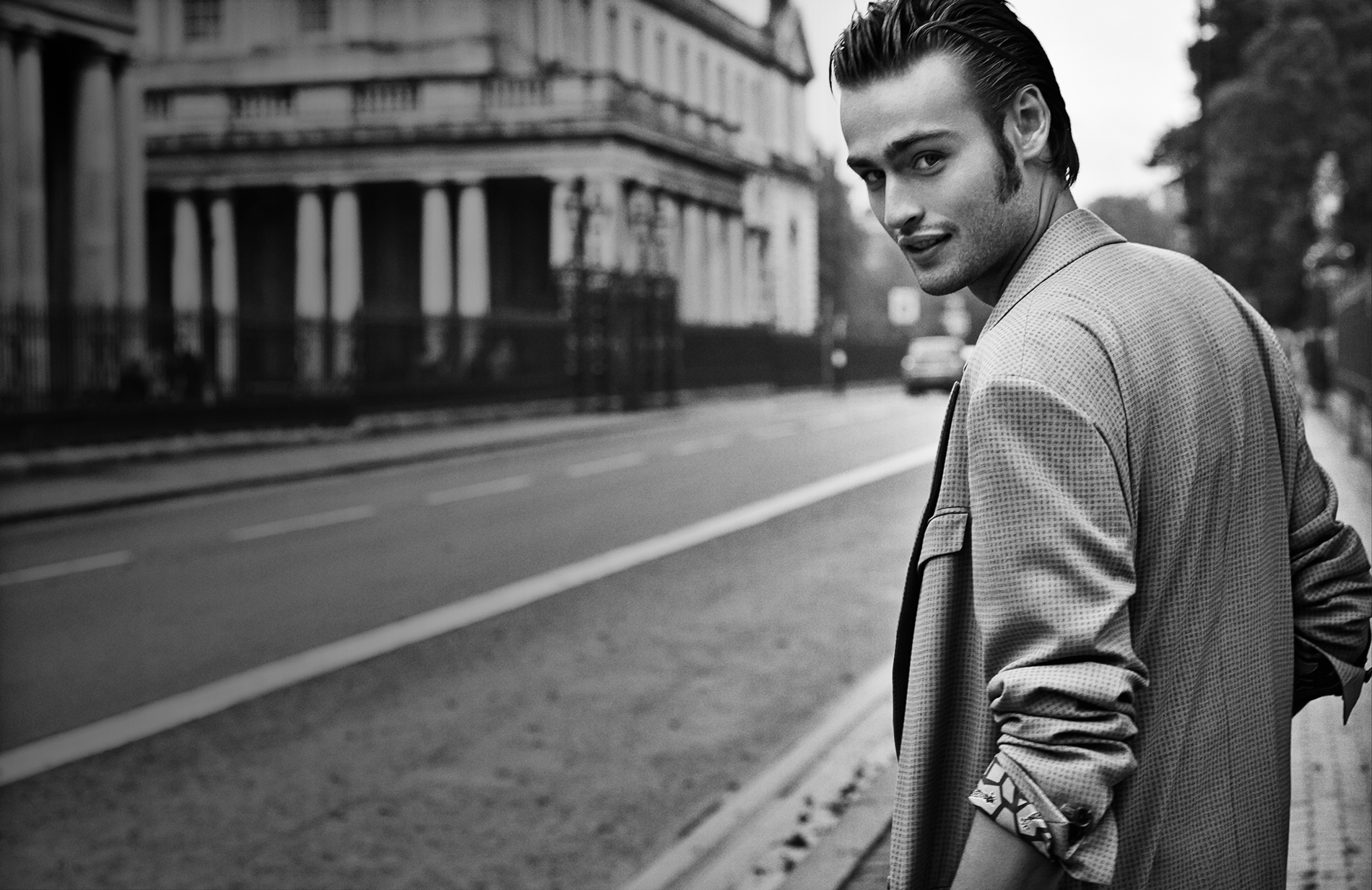 monochrome douglas booth wallpaper 56301