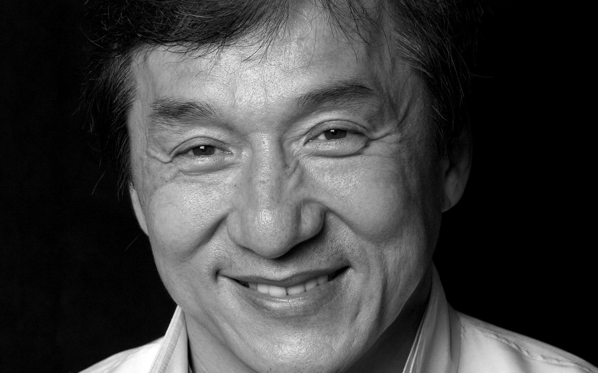 monochrome jackie chan face wallpaper 54869
