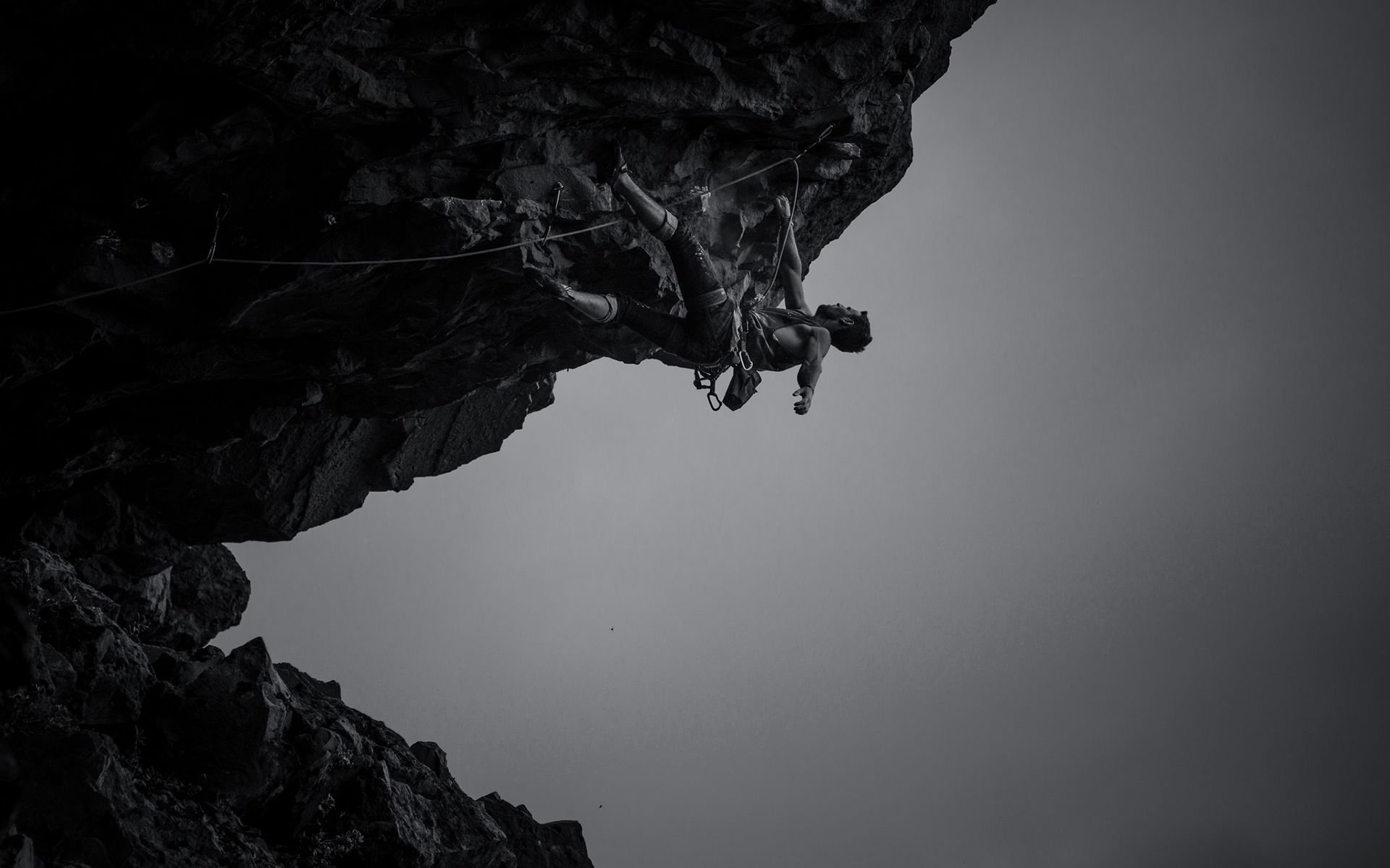 Monochrome Rock Climbing Wallpaper 56283