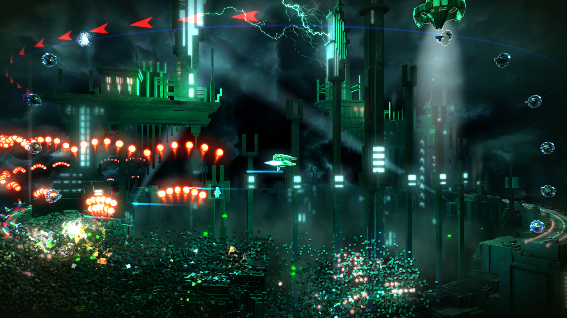 Resogun Game Desktop Wallpaper 49439 1920x1080px