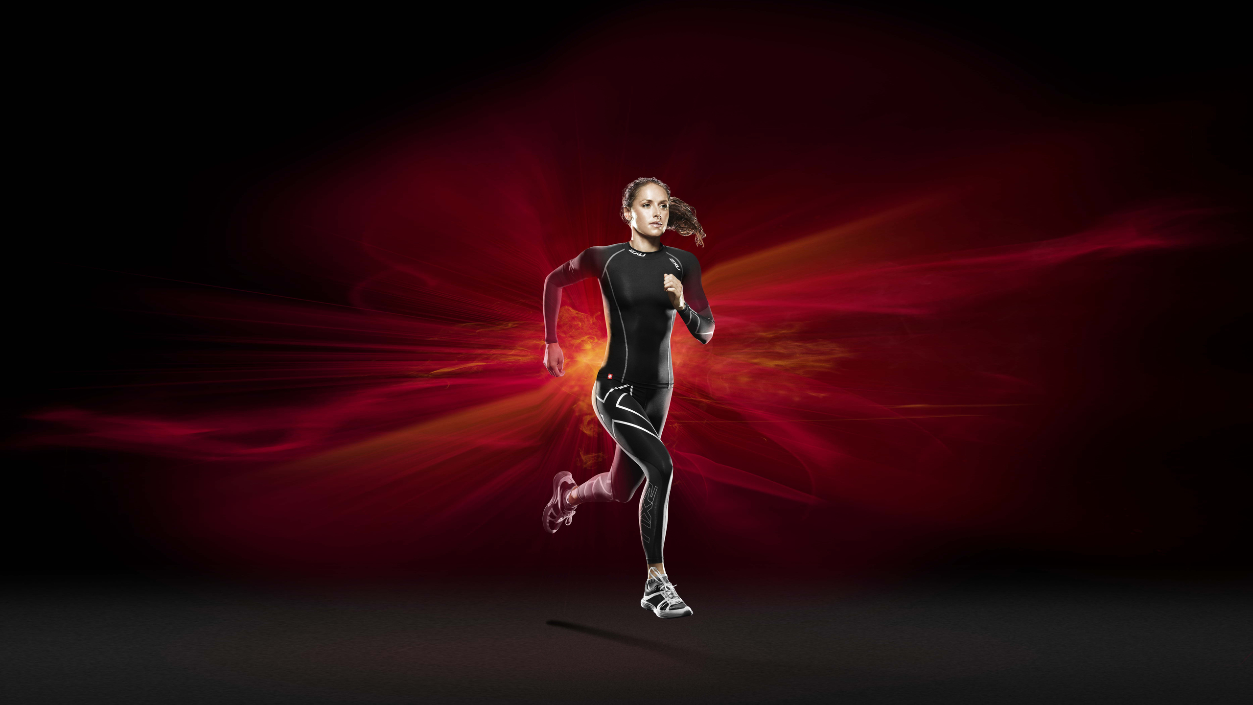 running girl wallpaper background 53832 2560x1440px