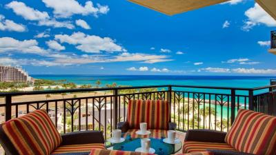Balcony Ocean View Wallpaper 53811