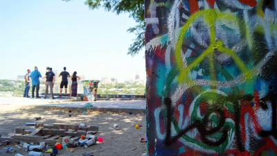 Baylor Street Art Wall Top Level 56178