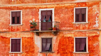Building Balcony Wide Wallpaper 53808