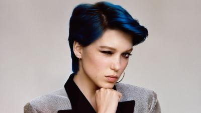 Lea Seydoux Blue Hair Wallpaper 54991