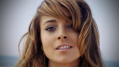 Lindsay Lohan Face Widescreen Wallpaper 54847