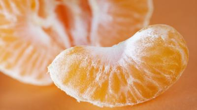 Mandarin Slice Wallpaper Background 54249