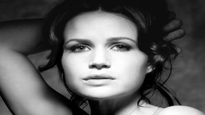 Monochrome Carla Gugino Face Wallpaper 56082