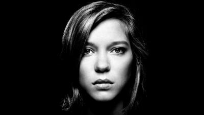 Monochrome Lea Seydoux Face Wallpaper 55000