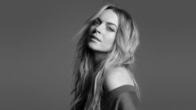 Monochrome Lindsay Lohan Wallpaper 54857