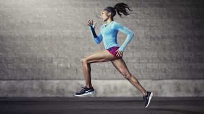 Running Girl Widescreen Wallpaper 53834