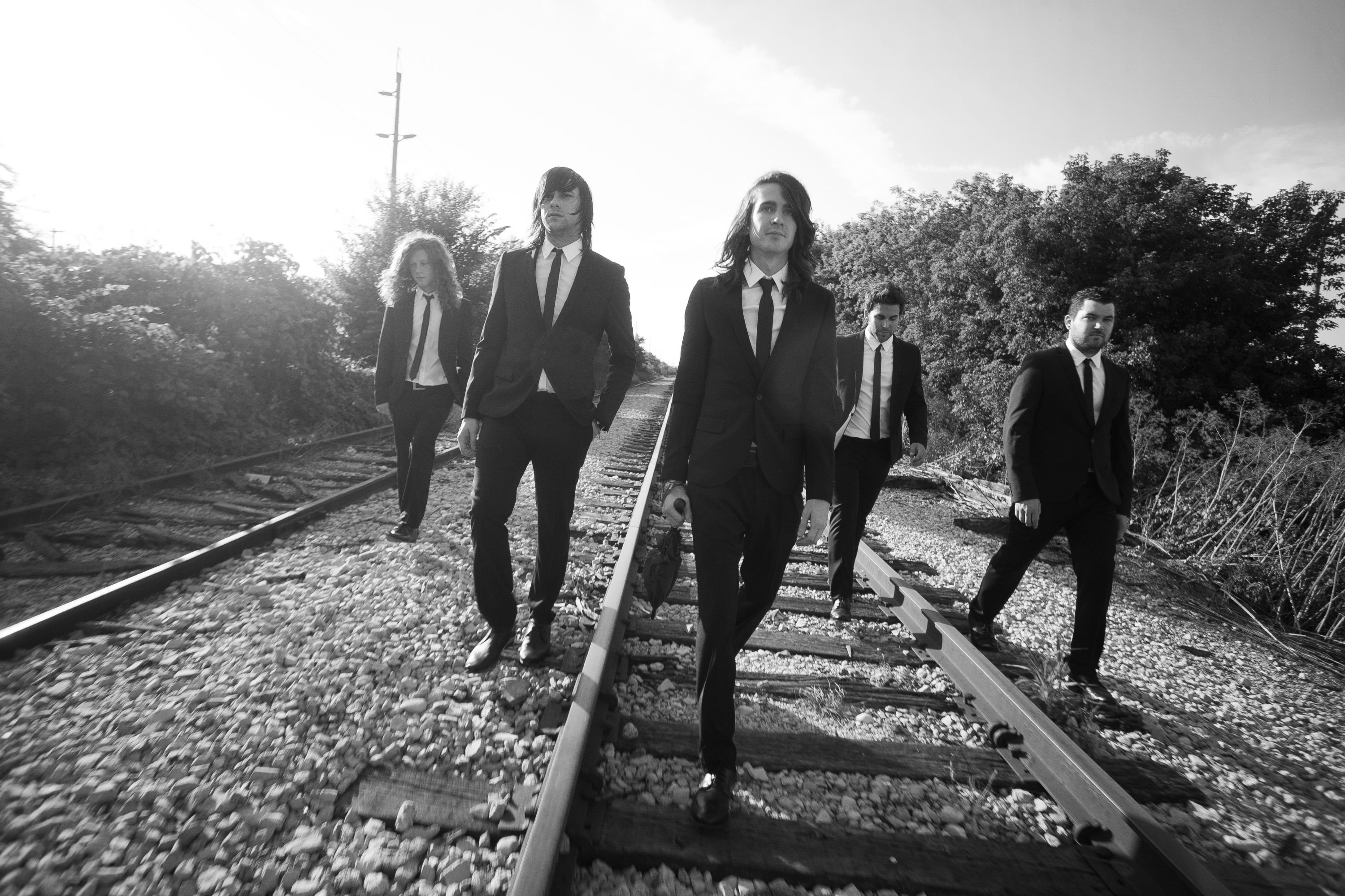 monochrome mayday parade band wide wallpaper 54431