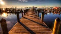 Harbor Sunset Widescreen Wallpaper 51433