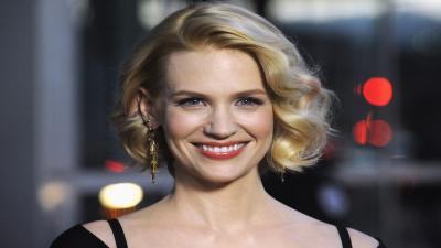 January Jones Smile Widescreen Wallpaper 55109