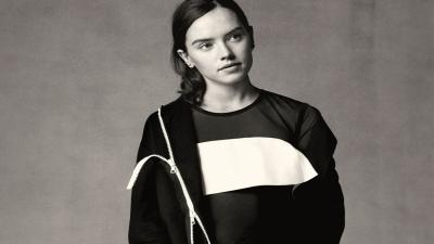 Monochrome Daisy Ridley Wallpaper 55060